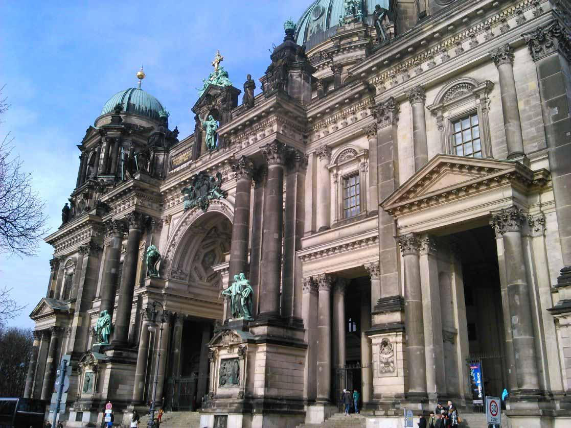 نمایی از ساختمان گنبد برلین