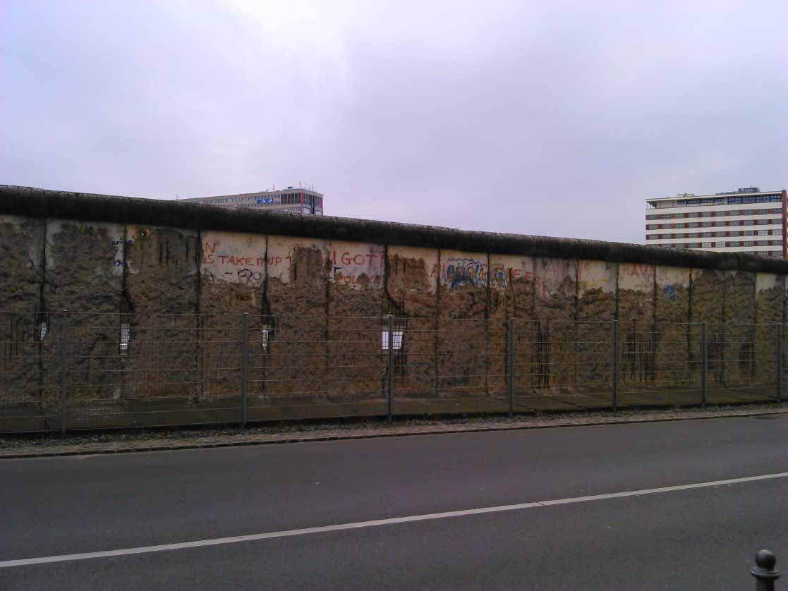 یادمان های دیوار برلین در قسمت های مرکزی شهر