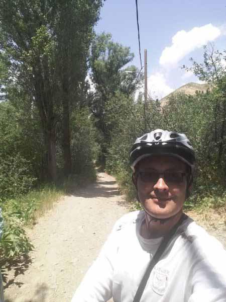 مسیری بسیار زیبا برای رکاب زنی