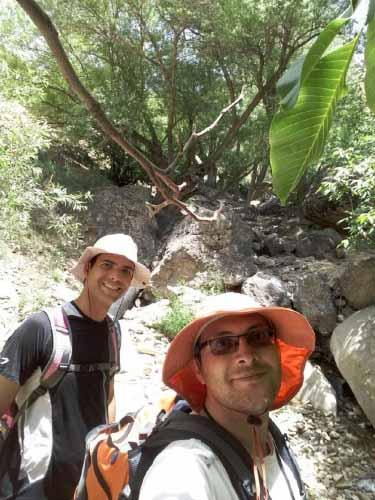 مسیر آبشار قبل از تپه منتهی به آبشار ، پر درخت است و با صفا