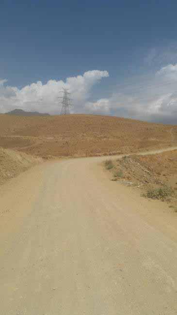 راه خاک یو سربالا ، کوه ها خشک