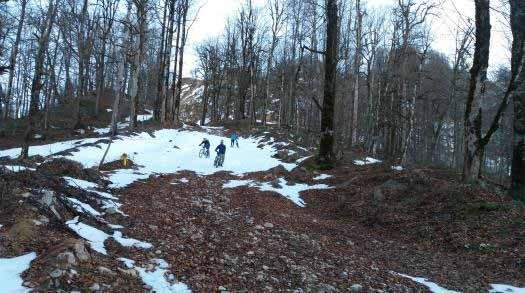 کم کم برف ها تمام می شد و جاده یخ زده دیده می شد .