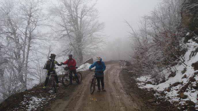 بالای آخرین سربالایی و شروع جنگل های برفی و مه آلود